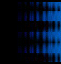 blue halftone dots on black background and texture vector image