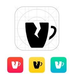 Broken cup icon vector image vector image