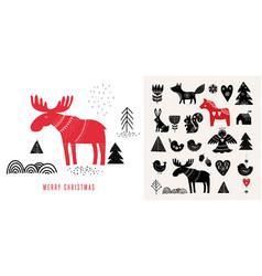 christmas in scandinavian style vector image