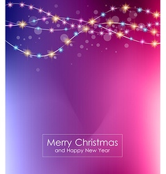 Christmas Lights Background for your seasonal vector image
