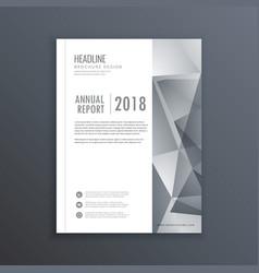 clean brochure flyer template design vector image