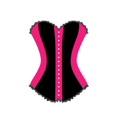 Close up front view of female sexual corset vector