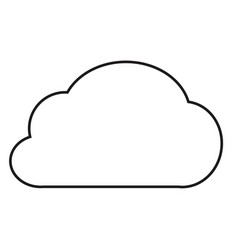 cloud icon on white background cloud icon for vector image