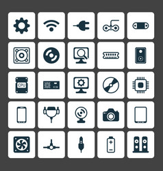 Computer icons set collection of connector radio vector