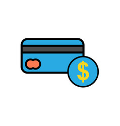 credit card flat icon sign symbol vector image