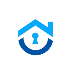 cute home security logo vector image