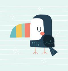 cute toucan in a scandinavian vector image