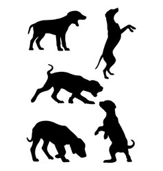 dalmatian dog pet animal silhouette 02 vector image