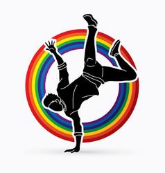dancer hip hop street dance b boy dance action vector image