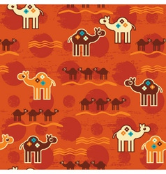 Desert seamless pattern vector