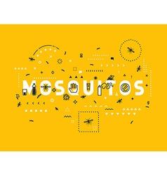 Design concept mosquitos vector