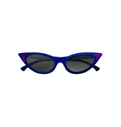 Elegant cat eye sunglasses with blue frame and vector