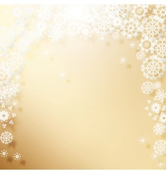 Elegant Christmas background with snowflakes vector image