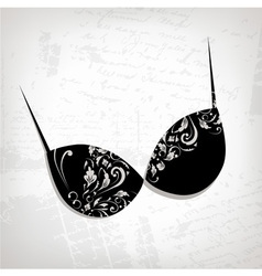 Female bra floral ornament for your design vector