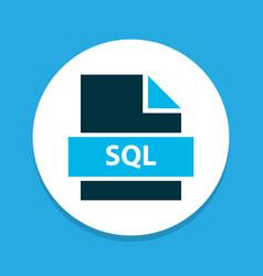 File sql icon colored symbol premium quality vector