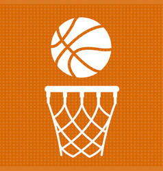 Flat basketball background vector