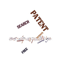 Free patent search text background word cloud vector