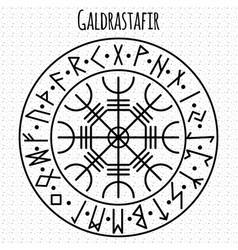 Galdrasta r magic navigation compass ancient vector