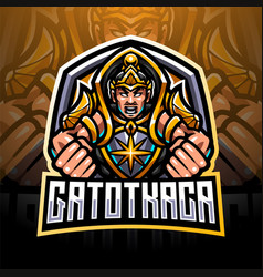 gatotkaca esport mascot logo design vector image