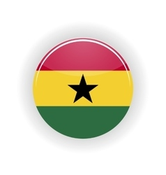 Ghana icon circle vector image