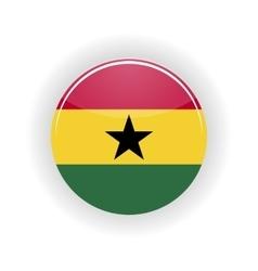 Ghana icon circle vector image