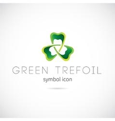 Green Trefoil Concept Symbol Icon or Label vector