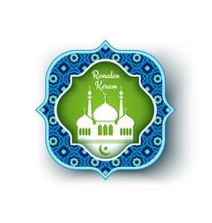 Greeting card for ramadan vector
