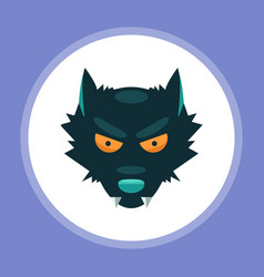 halloween wolf icon sign symbol vector image