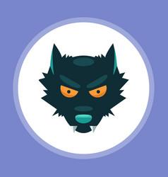 halloween wolf icon sign symbol vector image
