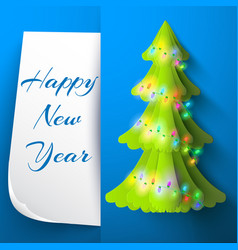 happy new year decorative card vector image