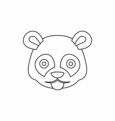 Head of panda icon outline style vector
