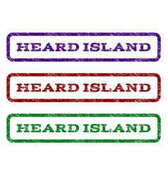Heard island watermark stamp vector