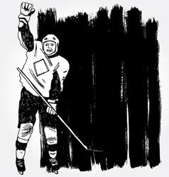 Hockey player3 vector