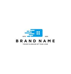 Home fast logo design vector