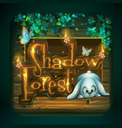 Icon for game user interface shadowy forest vector