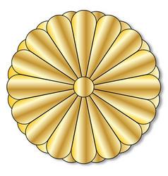 Imperial seal of japan vector
