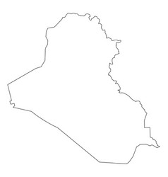 iraq map outline vector image