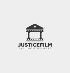 Justice cinema home film simple logo template vector