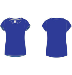 Ladies Sport T-shirt vector image