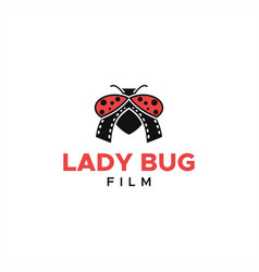 lady bug logo film media entertainment vector image