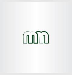 letter m and n line logo icon vector image