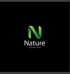 Letter n for nature and leaf logo logo nature vector