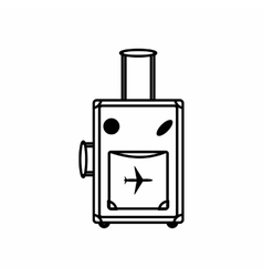 Luggage icon outline style vector