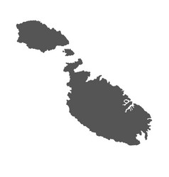 Malta map black icon on white background vector
