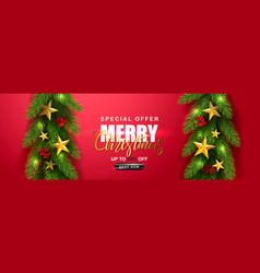 merry christmas saleuniversal red vector image