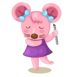 mouse playing flute vector image