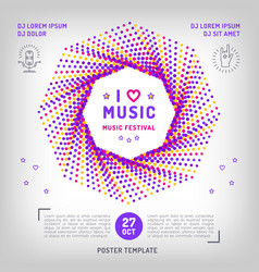music festival party invitation arts flyer vector image