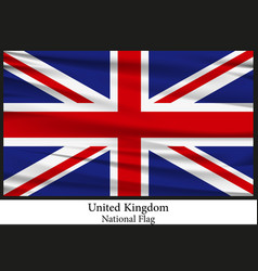 national flag of united kingdom vector image