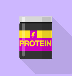 New protein jar icon flat style vector