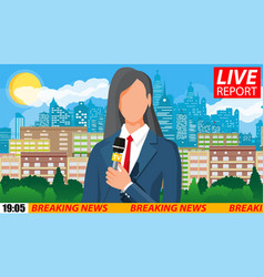 News announcer in studio vector